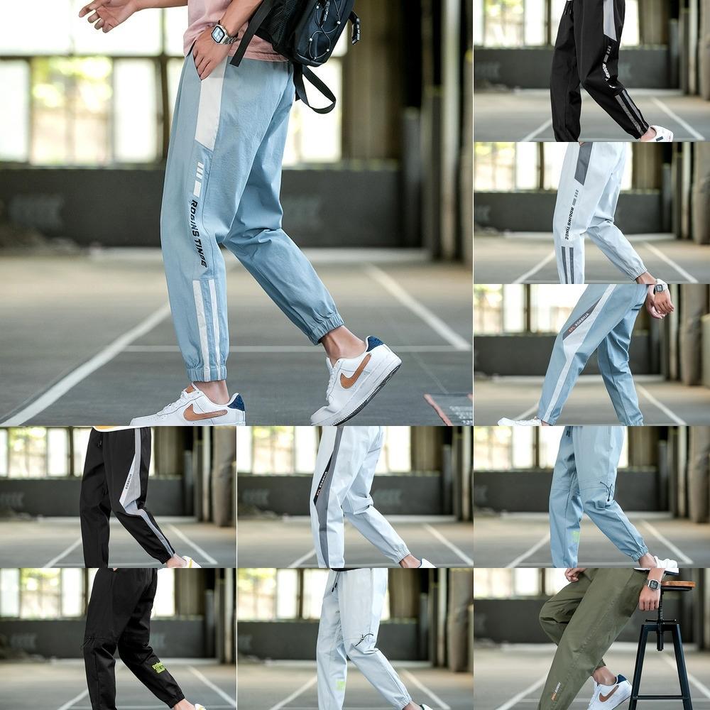 DtocR New Leggings lässig Arbeitskleidung Sportmann des Sommer koreanische Art und Weise loser beiläufige Arbeitskleidung Capri-Hosen Student O8UX3 Hosen Männer sport