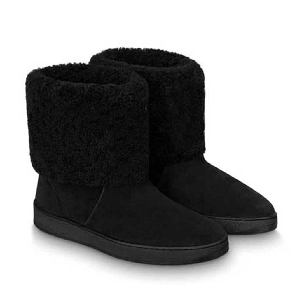 2021 Vender bem moda de alta qualidade Botas de Couro Botas de Neve Botas de Neve Sapatos de Mulher Plataforma Sapatos de Vaca Motocicleta Botas 05