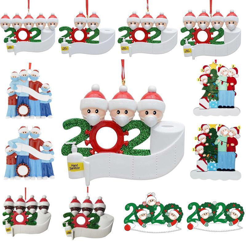 Fuerte del precio de fábrica al por mayor de saludos con los nombres de bricolaje personalizado la decoración de los muebles y 2020 hogar regalo y decoración de cuarentena para árboles de Navidad