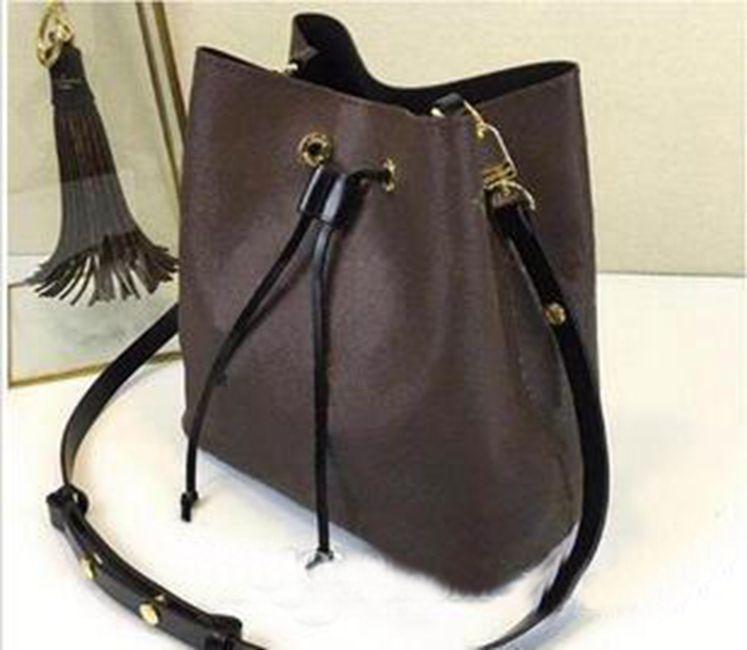 new shoulder bags leather bucket bag women famous bra design handbags high quality Cross Body