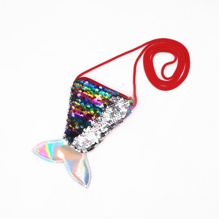 TONE-TONE SEVIN MERMAINE BAG для детей подарочные монеты кошелек одноэтажное мешок изменять кошелек милый рыбный хвост в форме мессенджера сумка HWC2877