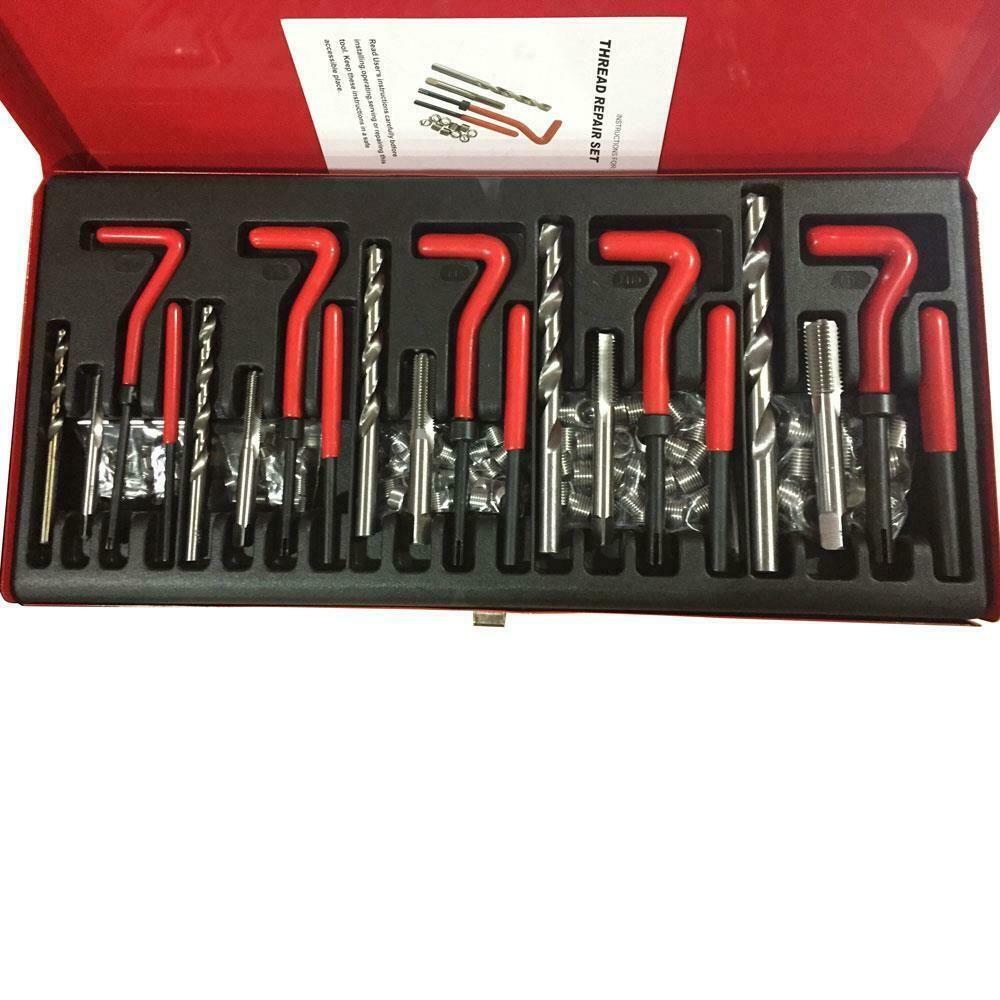131 pièces Helicoil Type Filetage Enfilez Kit de réparation métrique M5 M6 M8 M10 M12