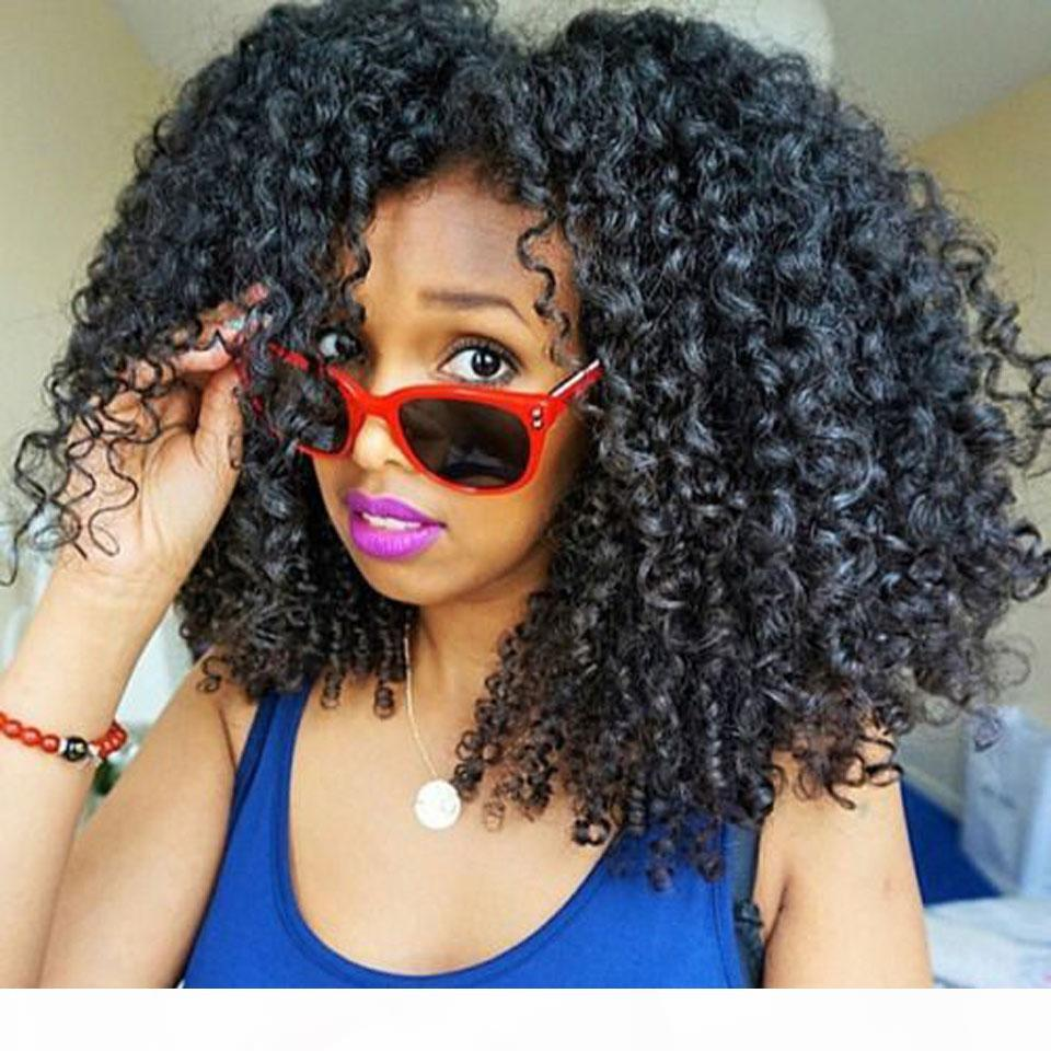 300% Density U part Human Hair Wig Glueless Human Hair Afro Kinky Lace Front Wigs With Baby Hair For Black Women
