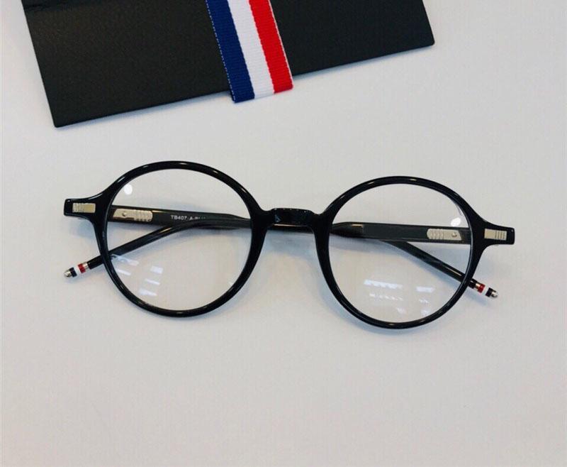 Novo Luxo Popular Designer Optical Glasses clássico Vintage Placa Redonda Limpar Frame lentes tendência avant-garde Eyewear Vindo com caixa