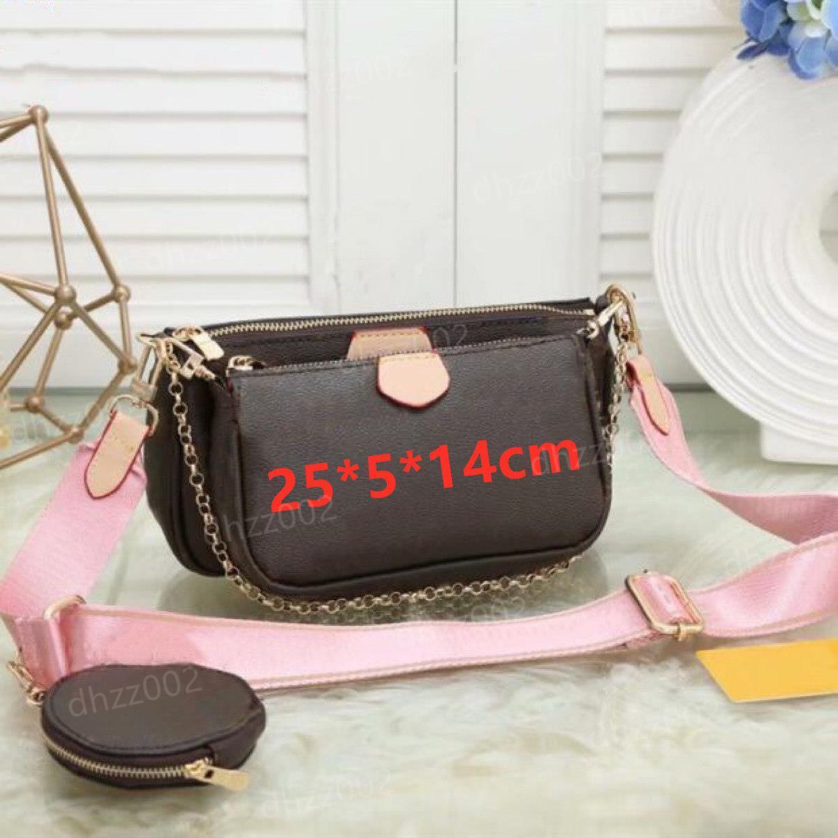 Bolsa Mulheres Bolsas Multi Pochette Bag Corrente Crossbody Bag Moda Pequeno Ombro Bag 3 Pcs Bolsa Multi Cor Straps EWFGSDGD