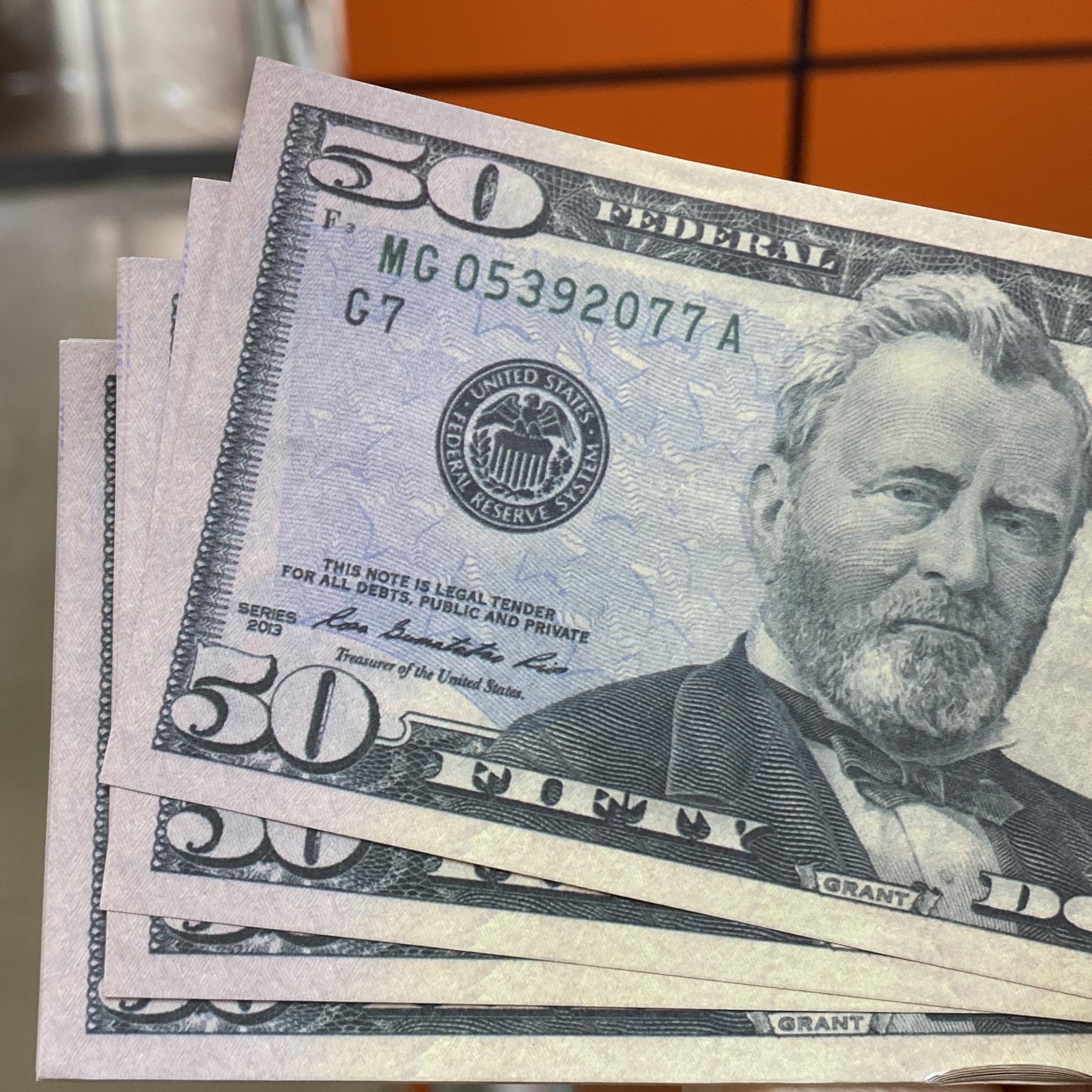 Игрушки Доллары доставки Банкноты 100 США Детская вечеринка США Контрафактные реквизиты Курсы валюты / Пакет Быстрая игра AA3 ODLMA