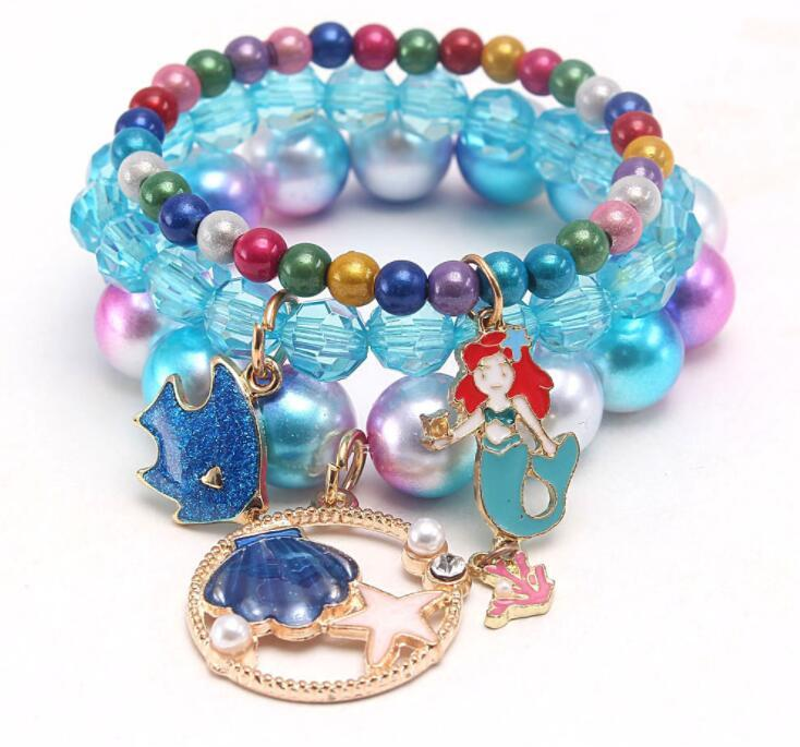 Múltiples estilos niños afortunado joyería pulsera feliz niños sirena unicornio encantos pulsera niño joyería regalo