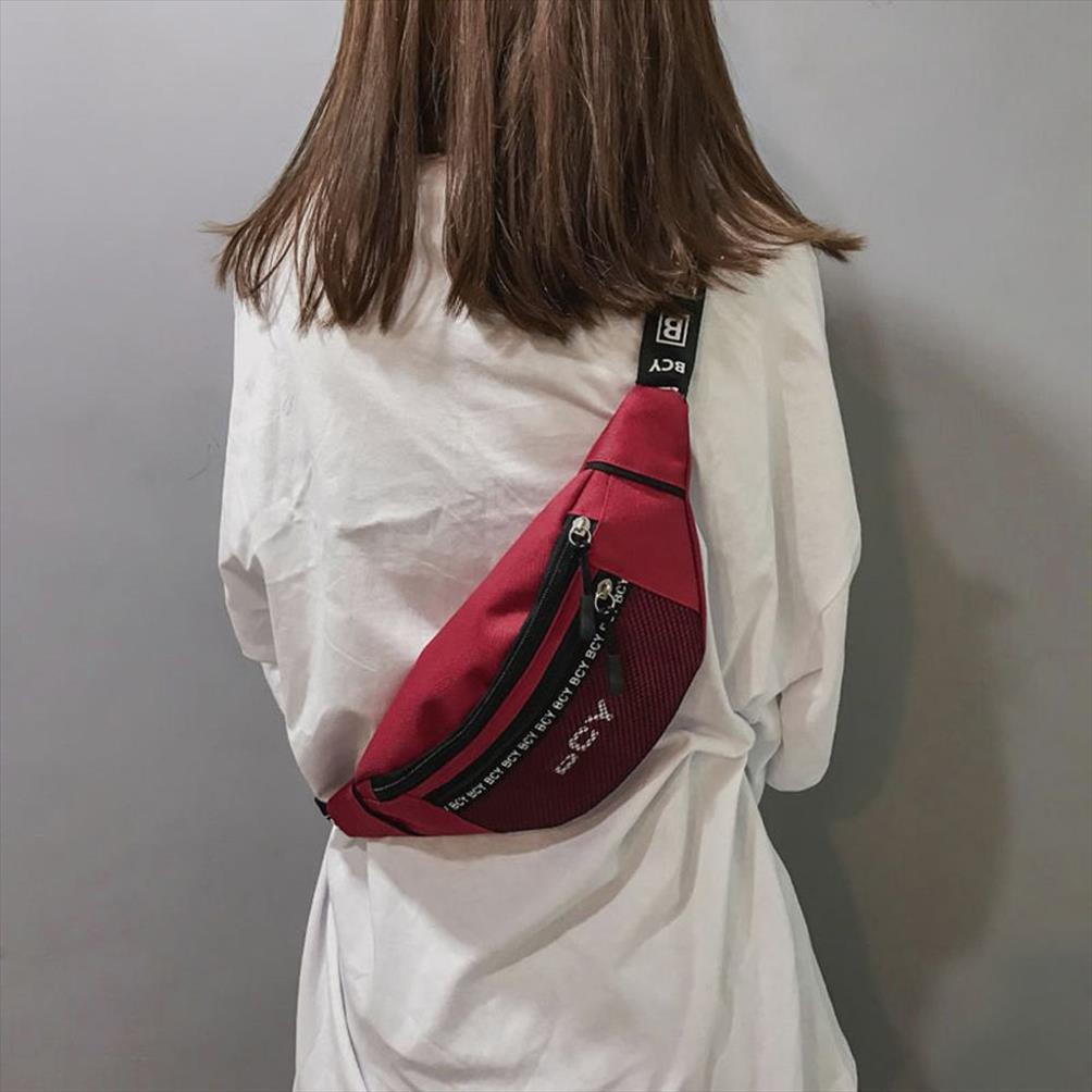 Mensageiro Messenger Neutro Banana Cintura Cinto Saco Heuptas 2019 Moda Bag PU Zipper Canvas Ao Ar Livre Fanny Esporte Peito J72 Evdmi