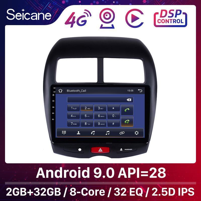 "Seicane Araba GPS 10.1 ""Android 9.0 DSP C4 2010-2021 MITSUBISHI ASX 4008 Radyo Ünitesi Oyuncu Desteği DVR WiFi Araba DVD"