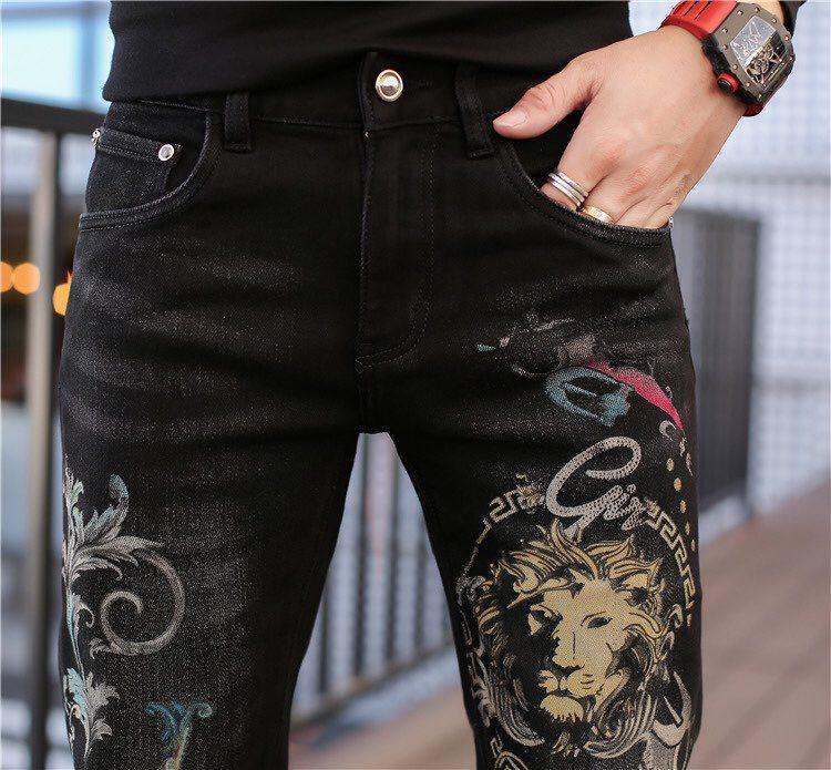 Мужские джинсы K10441 мода 2021 взлетно-посадочная полоса Европейский дизайн вечеринка в стиле одежда
