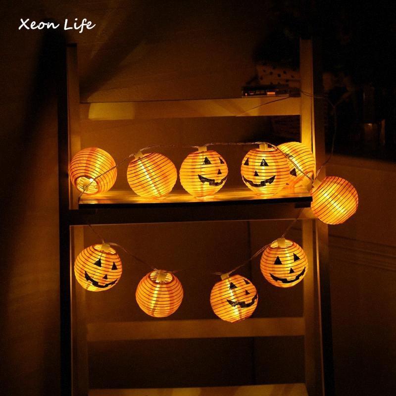 ZMHEGW 2020 Yeni Kabak 10 LED Işıklar Cadılar Bayramı Dekorasyon Işıklar Beyaz Cadılar Bayramı Ev Dekorasyon Aksesuarları osC0 # Isınma