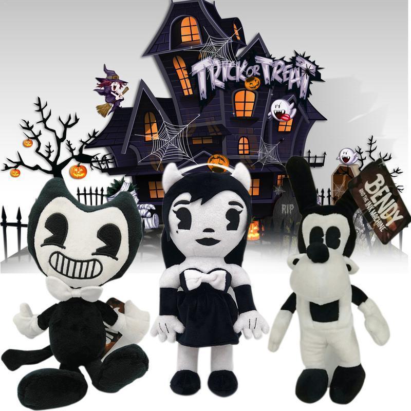 Serie di Tint Machine Immagine Bendy Boris Peluche Figure Giocattoli Giocattoli Bambini Doll House Decoration Christmas Halloween Regali di Halloween