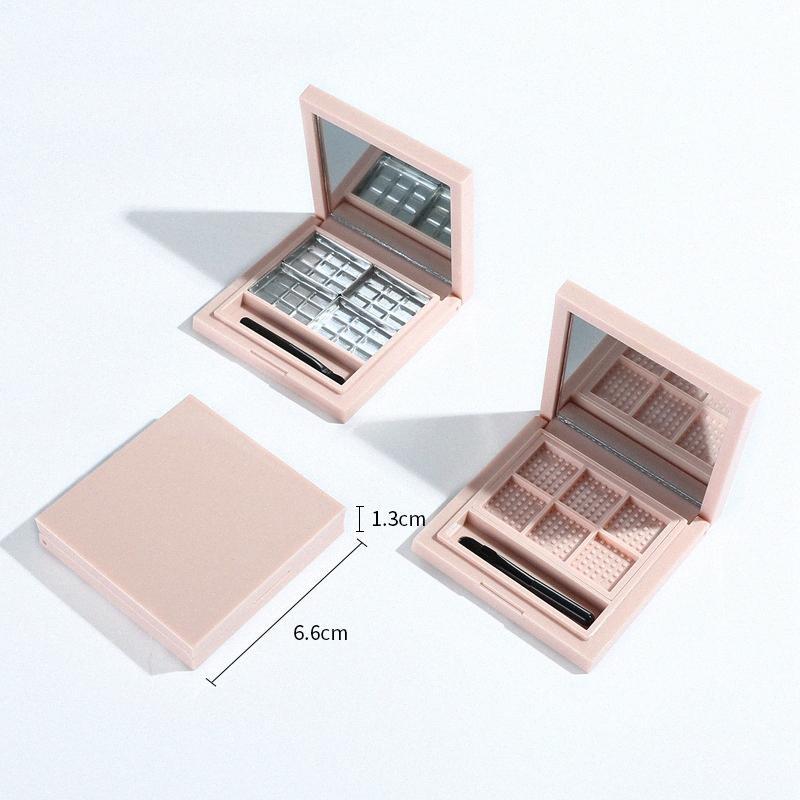 Leer Pallete für Lippenstift Leeren Makeup-Palette Fall für Lidschatten Rouge Lippenstift Kosmetik DIY Pallete, 6 Grids Rosa ZDdA #