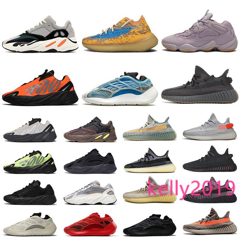 Vente en gros Kanye west 700 femmes Hommes Chaussures de course taille 13 carangues Avoine 380 Azareth V3 Azaël Cinder Designer Baskets sport Chaussures de sport