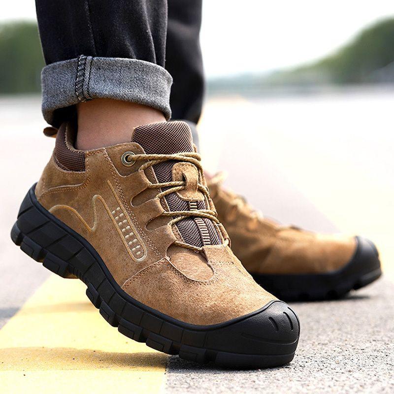 Мужская защитная обувь прокол на открытом воздухе Кроссовки стальные носки безопасности сапоги неразрушимые туфли работают безопасность ботинок бесплатная доставка lj200916