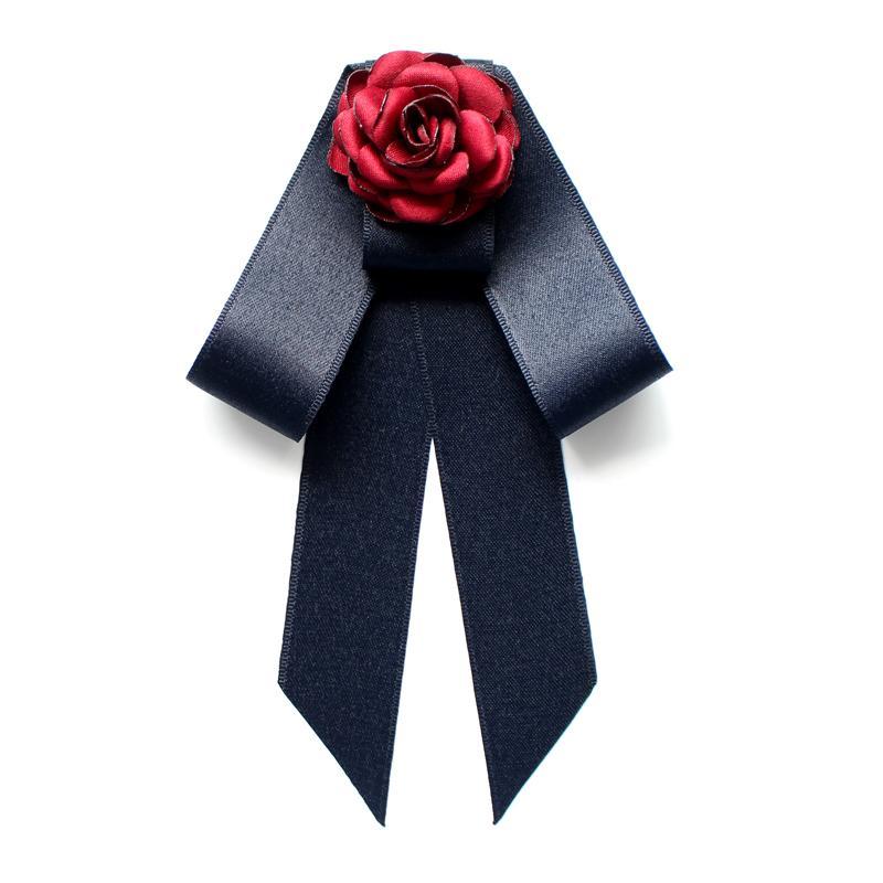 Adulto Uomini Donne Wedding del collo del collare della camicia del legame di arco del foulard della lega del fiore di farfalla della fascia elastica di cristallo del nastro Bowtie