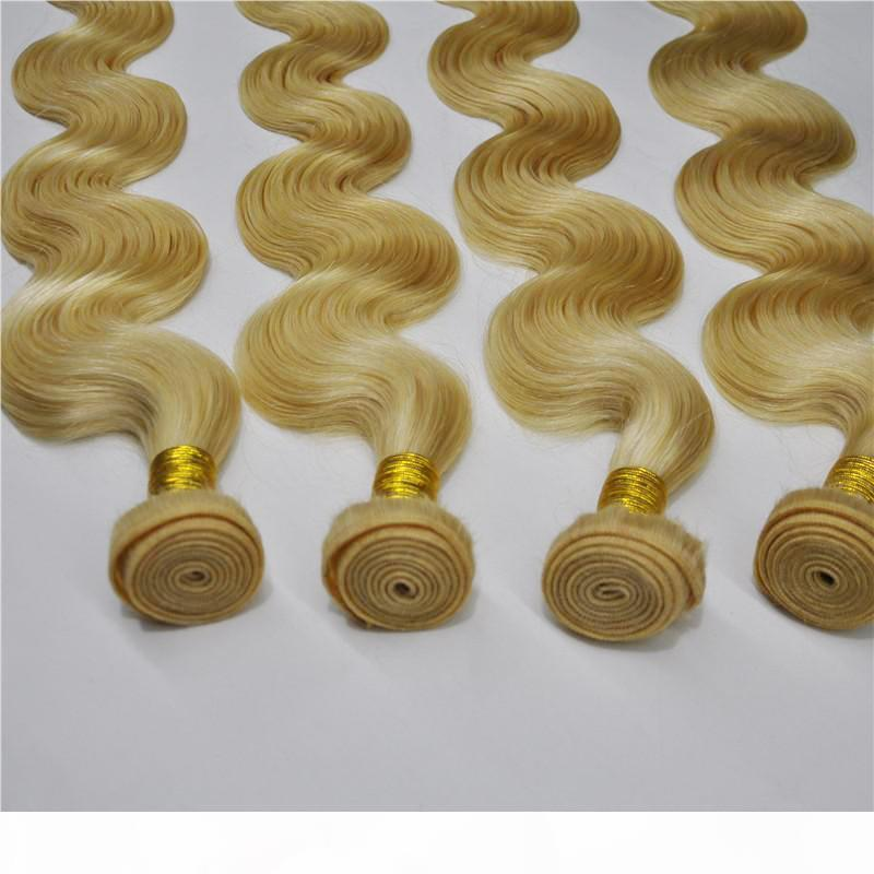 Ruijia hair 100g piece 3 stücke lot body jungfrau menschliches haar bündeln unverarbeitete russische body wave blonde haar weben