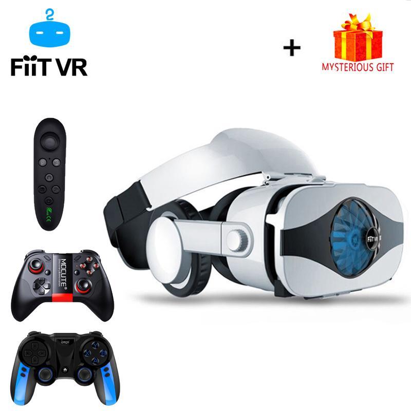 Casque Casco 3D Occhiali VR Virtual Reality Auricolare per smartphone Smart Phone Goggles Lenses Lunette ViaR Binocolo Videogioco LJ200917