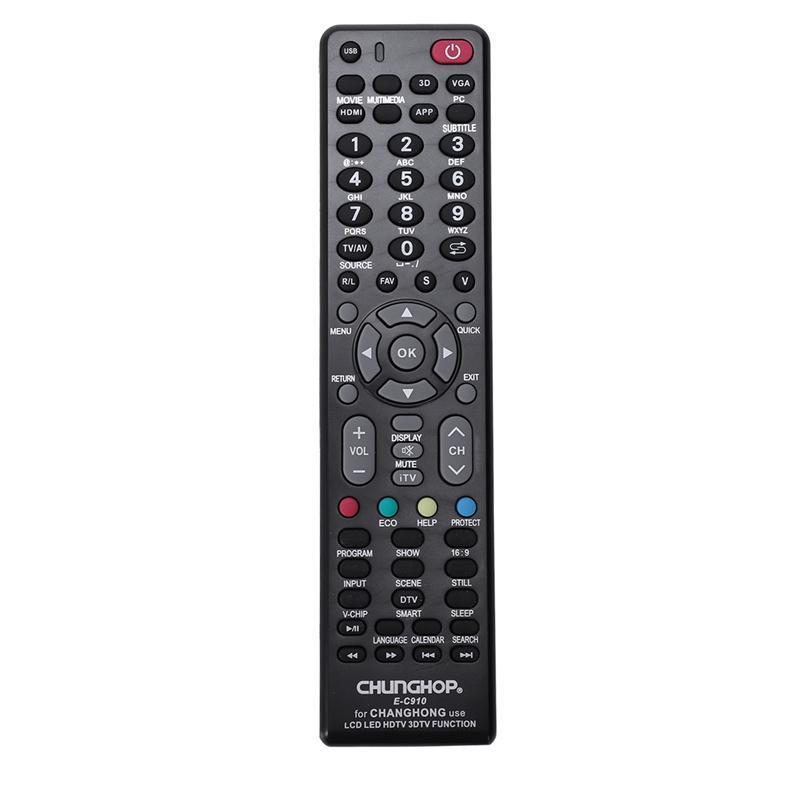 CHUNGHOP pour CHANGHONG tv contrôleur de commande à distance E-C910 RL57AX KPT7C RB67B RP57H RL58A RK60B RP57L RP67C KPT9A-4 KPT9B KPT9A-