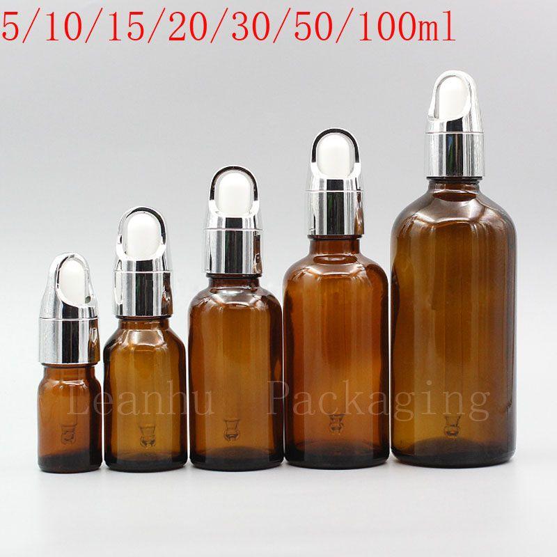Коричневый цвет стекло эфирного масло, Субстанция Упаковка бутылка, 16pc пипетка Бутылка, Пустая Cosmetic Контейнер Elite бутылка жидкости