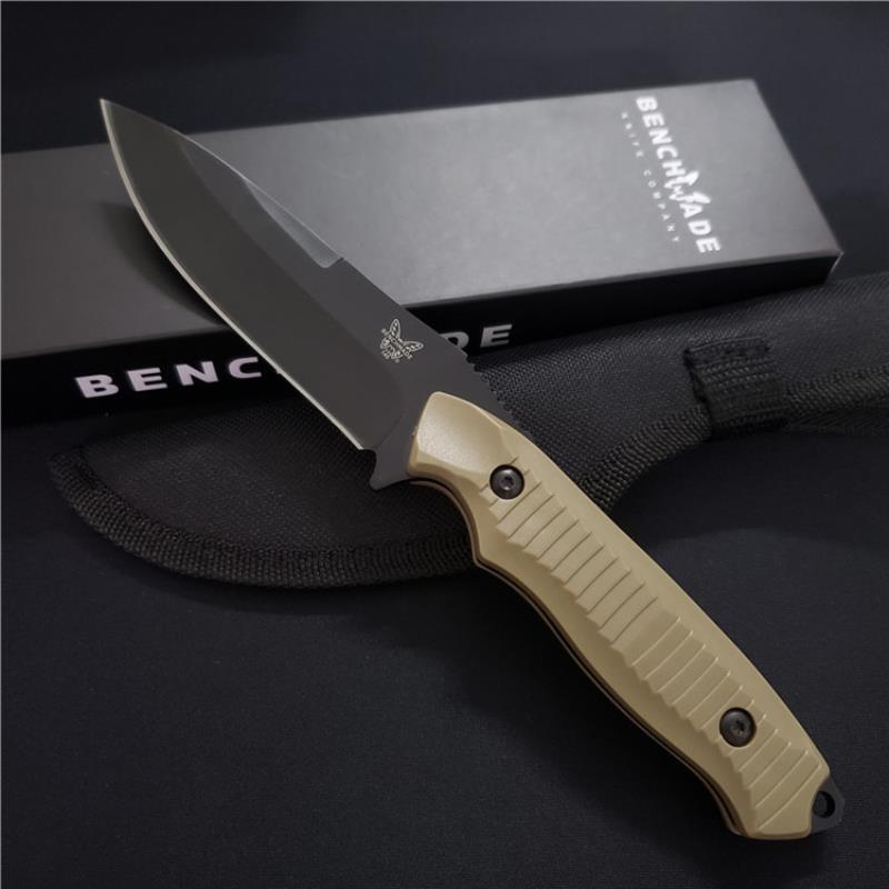 Горячей! 154 см BM-140 BM140 485 нож с фиксированным ножам лезвия на стенде 940 нож с открытым кемпингом. Выживаемость Tactical 810 ABS QFFDV