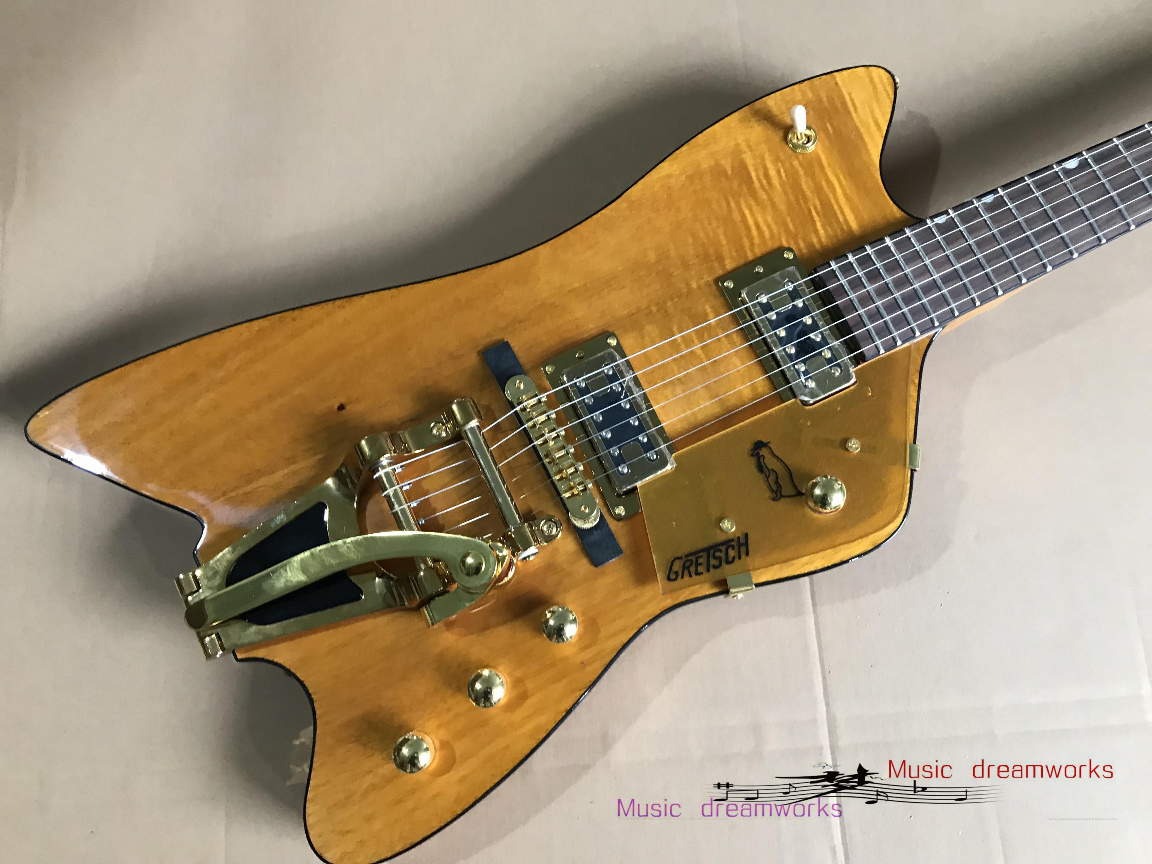 Porcellana Guitar elettrico Guitar OEM Chitarra elettrica Guitar Big Jazz Vibrato System, colore giallo