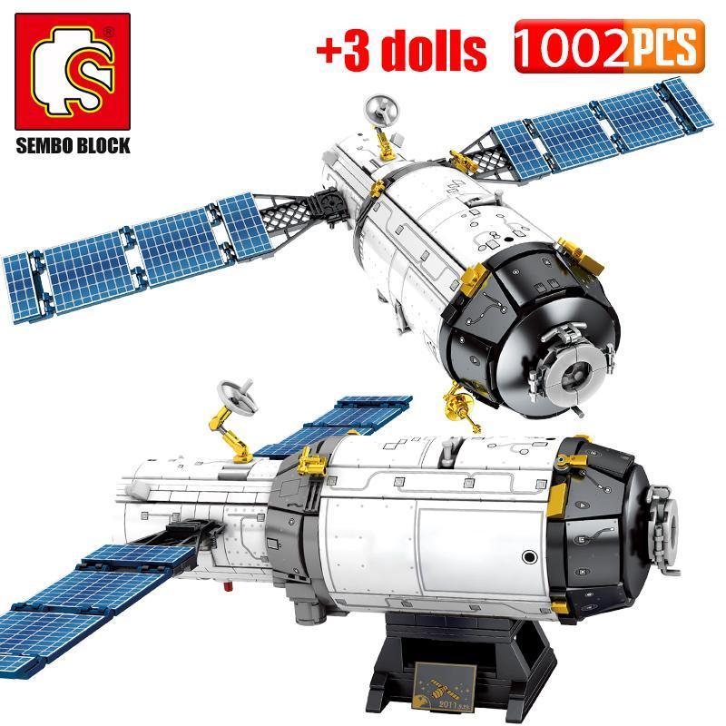 Sembo مدينة الخالق صاروخ الفضاء كتل البناء تكنيك السيارات المأهولة سفينة الفضاء قاذفة رائد الفضاء أرقام الطوب لعب الأطفال yxlklv