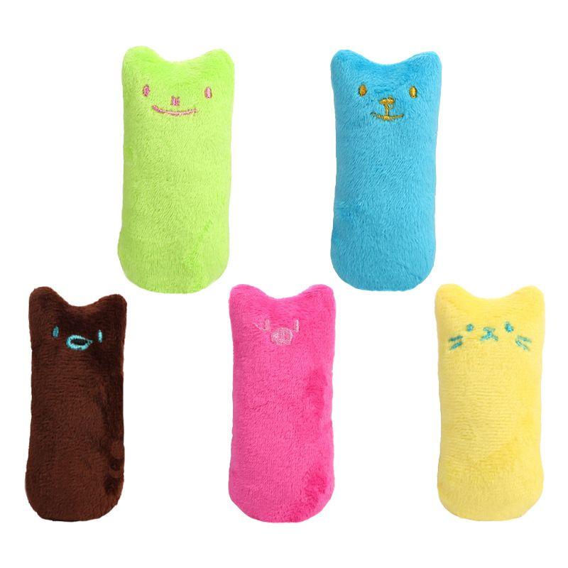 Haustier Katze Spielzeug Zähne Schleifen Kauen Vokale Plüschtier Spielzeug Thumb Bite Supplies