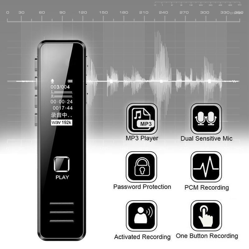 Digital mini voz de som gravador de som ativado caneta de gravação de áudio handheld Dja991