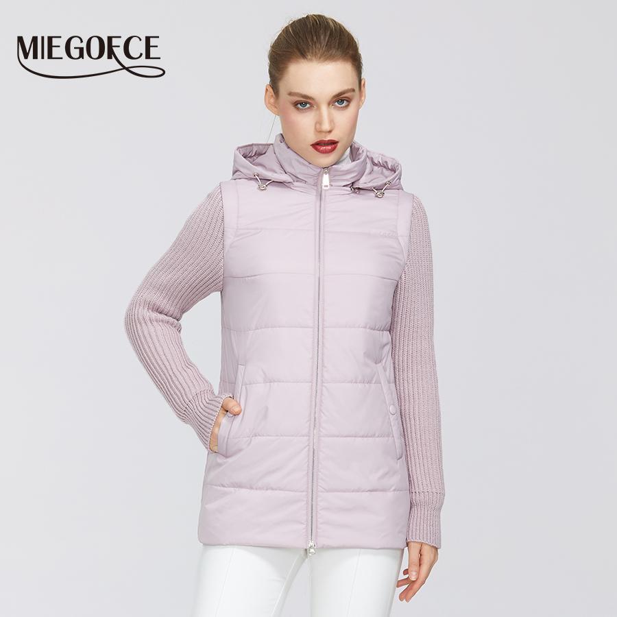 Collezione Donna MIEGOFCE New Spring giacca antivento doppio Materiale Zip di Shortthwith Collare resistente 201009