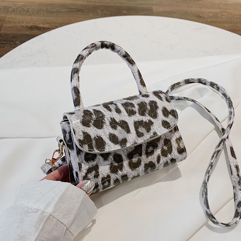Mano Bolsas para mujeres leopardos monedero Forma Y El bolso de cuero pequeña bolsa de hombro Crossbody de las mujeres de bolso femenino embrague totalizadores Mini C1020