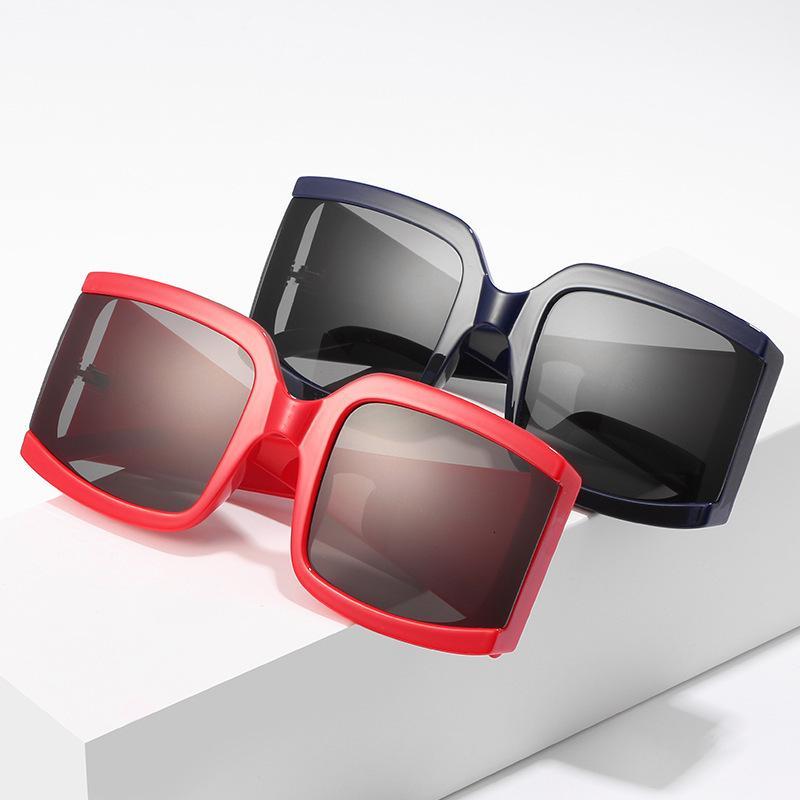 Mens Eyewear Prodduct Grande Sol Mulheres Oversized Decoração de Rua Black Friday Óculos de Sol Quadro Tendência Tendência Tendência Óculos 2020 Hqpme