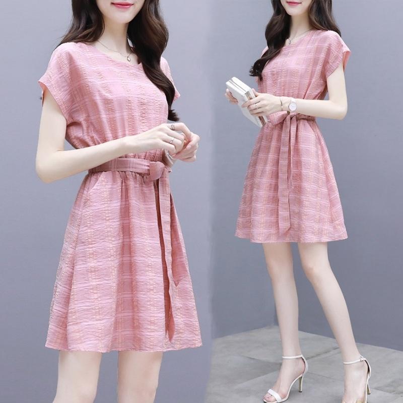 estilo WYpu0 vestido 2020 nueva tela escocesa francesa vestido de la gasa de la falda de Platycodon temperamento gasa de la cintura delgada de cierre falda femenina Xia Cj81o
