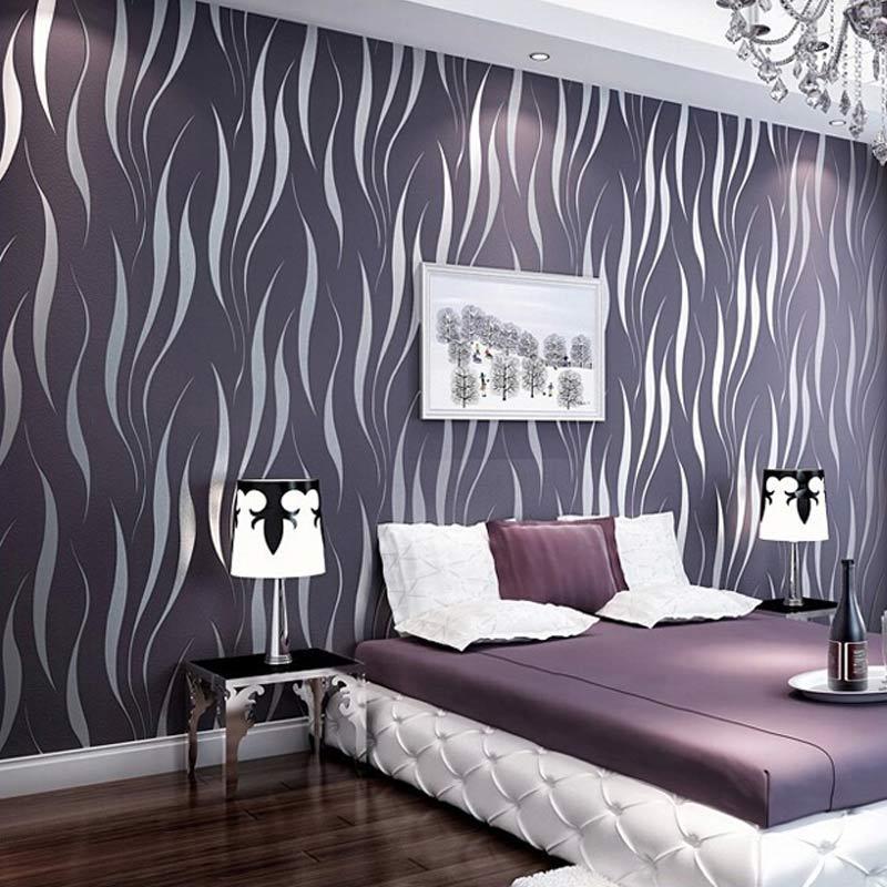 3D обои Современная роскошь Stripe Wall Papers для гостиной Диван ТВ Спальня Home Decor Нетканые покрытия для стен Papel De Parede