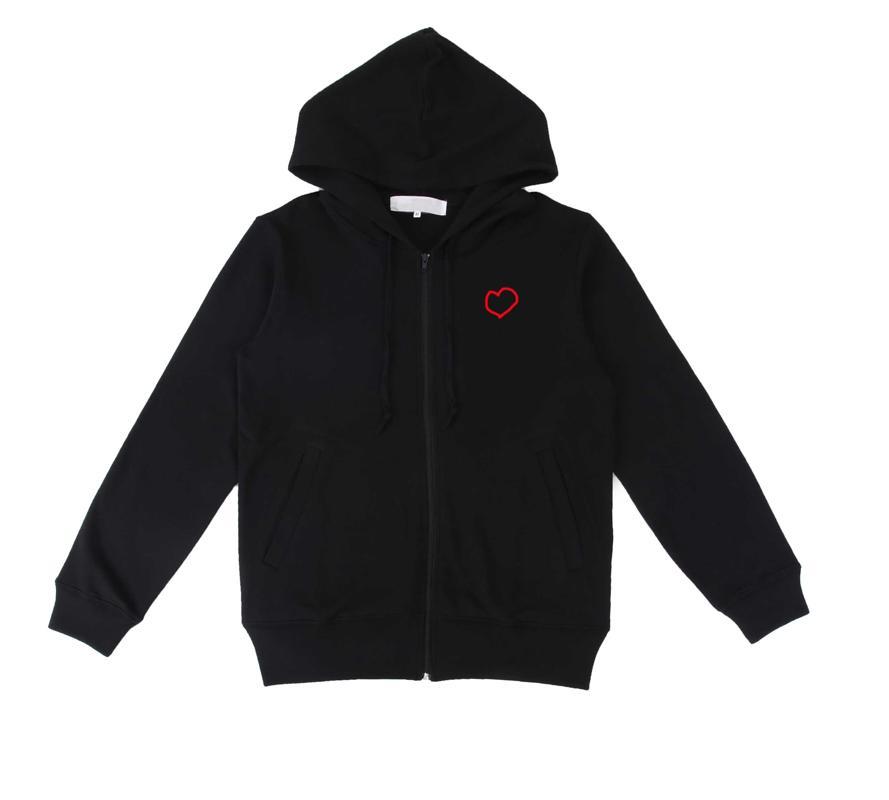 Hombres Mujeres Chaqueta con la moda con capucha Nuevas chaquetas para hombre con corazón 20sa Casual Sudadera con capucha 3 colores Tamaño S-XL