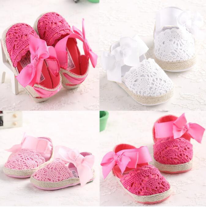 Младенческий малыш принцесса первые ходунки новорожденные девочки девочек до главы мягкие содовые ботинки бантики вязание обувь обувь обувь