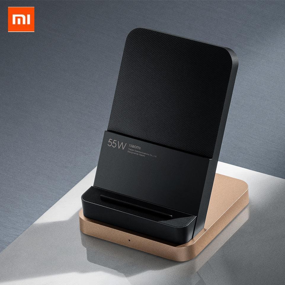 2020 새로운 Xiaomi 55W 무선 충전기 최대 수직 공기 냉각 무선 충전 지원 Xiaomi 10 iPhone 용 빠른 충전기
