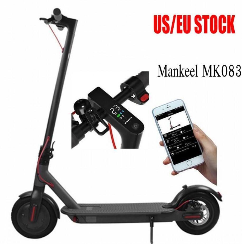 UK EU Stock электрический самокат 250W складной велосипед удар Скутеры велосипед для взрослых 36V с LED Display High Speed Off Road MK083