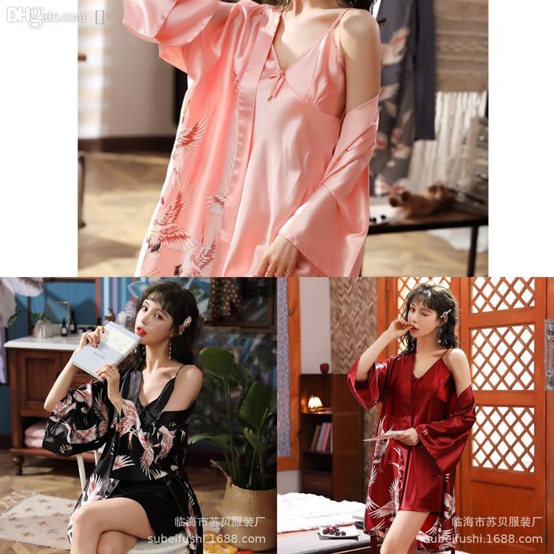 E9P0 Burgundy Set Pajama костюм женские кружева халат шелковый цветок ночная рубашка велюровые теплые влюбленные халат купальный купальник леди зимний бархатный малыш