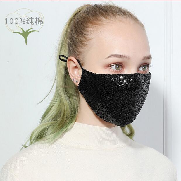 ULU80U vente chaude paillettes respirateurs respirables unisexs couleur visage masques embouchons garder la réutilisation chaleureuse vente populaire 6 n