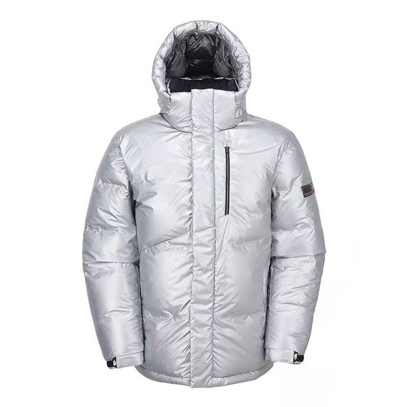 Mens Stylist Coat Leaves Silver Parka Winter Jacket Men Women Winter Feather Overcoat Jacket north Down Jacket Coat Size B579 XS-XXL