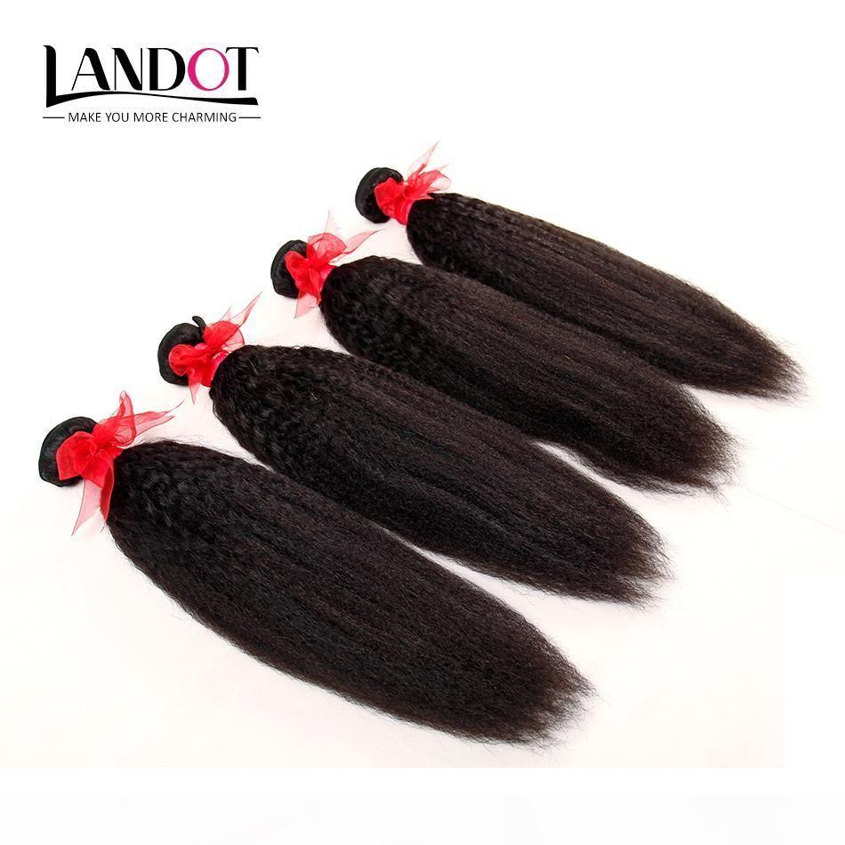 Péruvien Malaisien indien Brésilien Kinky Droit Vierge Vierge Cheveux Humains Fouets 100% Non traité Italien Célibataire Yaki Remy Extensions de cheveux