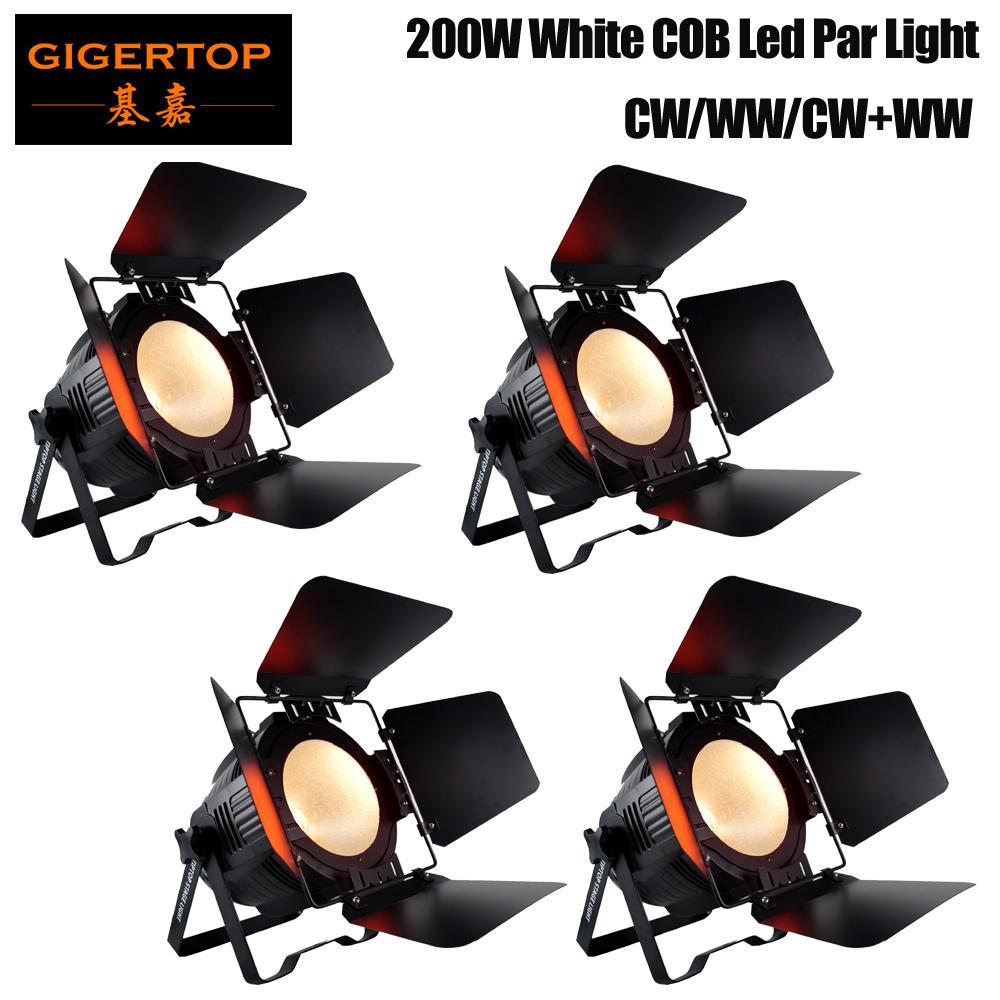 Barn Kapı ile LED Sahne Işık Efekt 200W Beyaz Renk Alüminyum Par DMX512 DJ Disco Lambası KTV Bar Parti Arka Işık Işın Projektör Spotlight