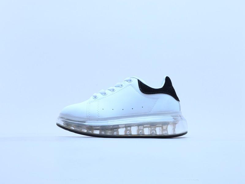 los niños de gran tamaño para niños zapatilla de deporte causales de moda formadores zapatos blancos de los muchachos negros niñas tamaño unisex 28-35 euro