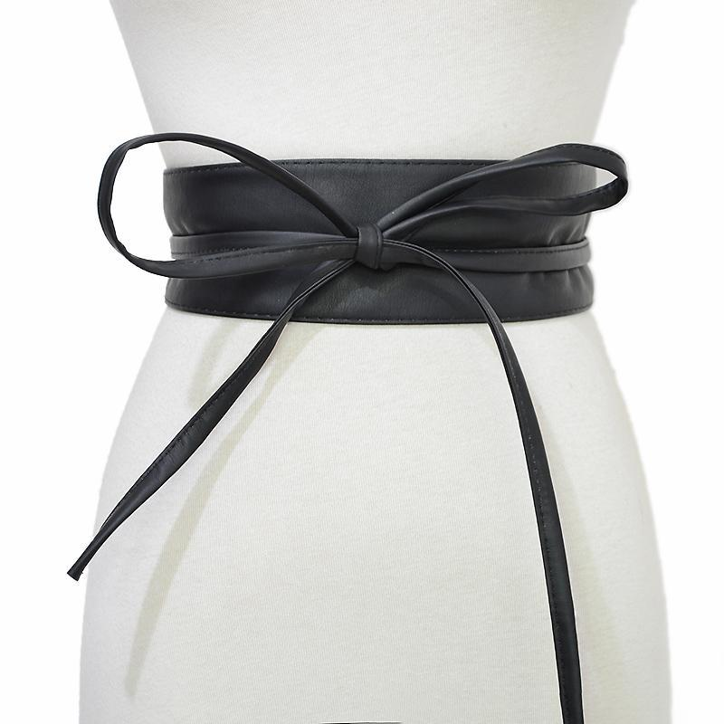 Cuero de lujo de la pajarita de la pretina del nuevo de la manera del estilo del ocio de tres secciones de cuero de imitación del sello de la cintura suave Bg-1398