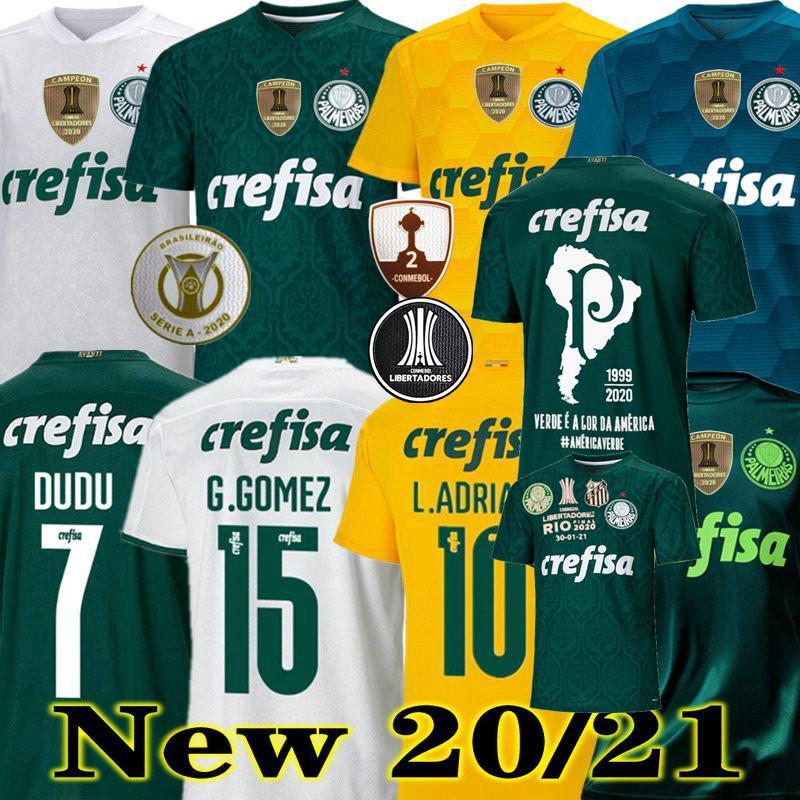 2020 2021 SE Palmeiras Soccer Jerseys Palmeiras Felipe Melo L. Adriano Ramire Veron Lucas Lima 20 21 Football Hommes Femmes Shirt