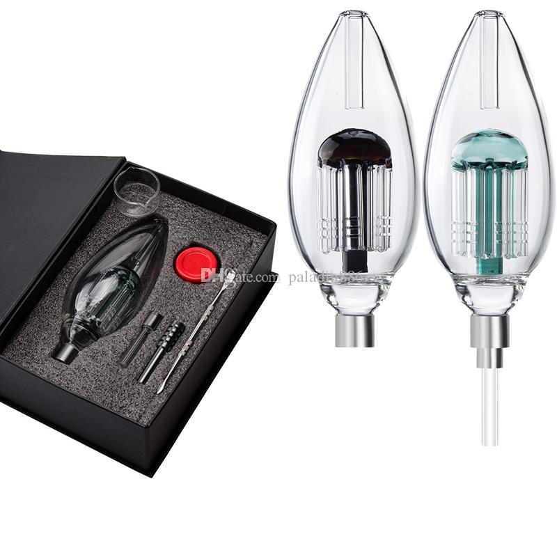 Glas Bubbler Kits Delux 510 Quarz Nagel Keramikspitze Wasser Glasrohr DAB RIG GLAS BONG Rauchende Rohre