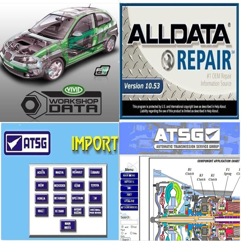 2020 hot All Data Auto Repair Soft-ware Alldata 10.53 for cars and trucks in 750gb HDD Tech Support via Teamviewer