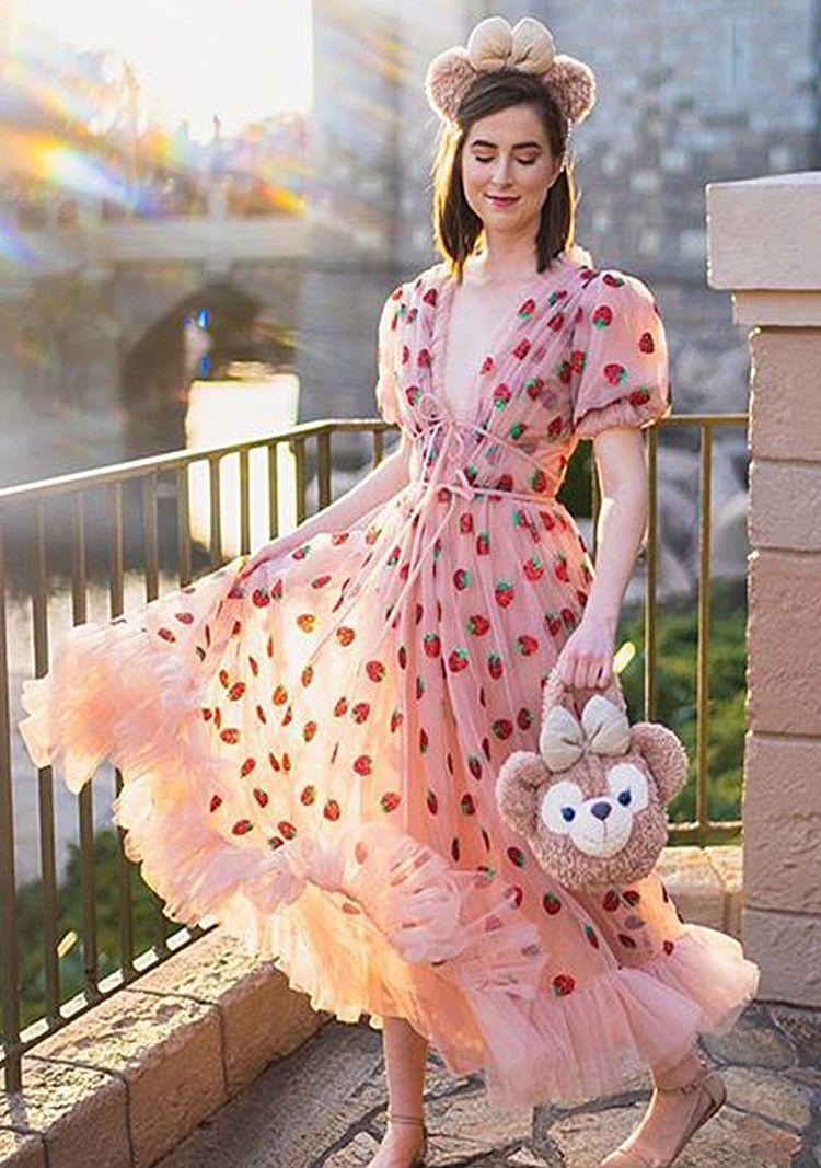Элегантный розовые черное Кружево Лоскутного плиссе с длинным рукавом 2021 женщин платья летом богемских оборки шифон макси платье дизайнер Runway платье