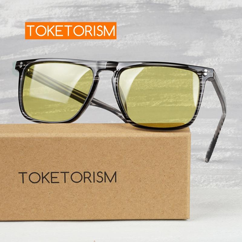 Toketorism день и ночь очки фотохромные очки поляризованные желтые очки для вождения 1006